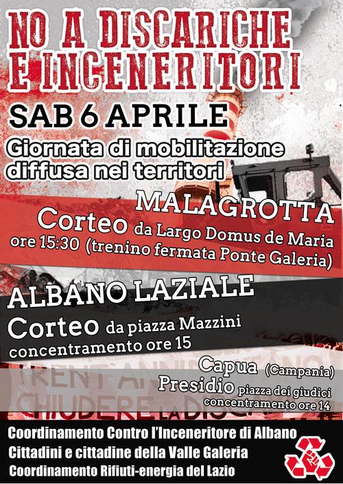 Sabato 6 Aprile giornata di lotta diffusa sui territori